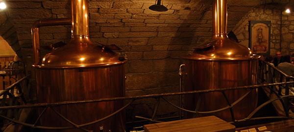 Пивоваренное оборудование. Сусло-варочный котел и фильтр чан пивоварни.